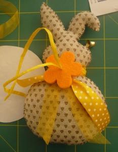 tutorial coniglietto fiocchi e fiore